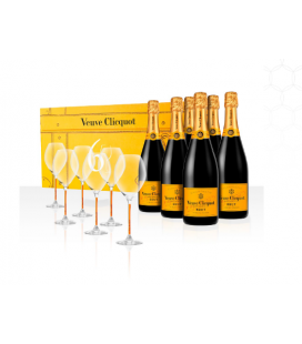 Veuve Clicquot Yellow Label 6 Pack + 6 Copas