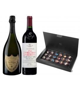 Pack Vega Sicilia Valbuena + Dom Pérignon + Bombones