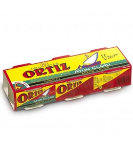 Atún Claro En Aceite De Oliva Ortiz pack De 3