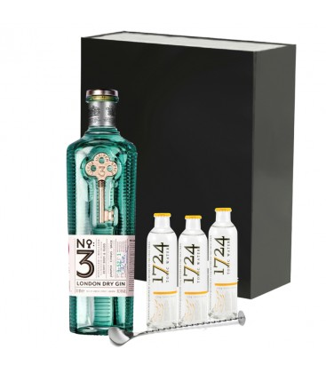 Estuche Gin London nº3 + Tónica 1724 + Cucharilla De Cocteleria