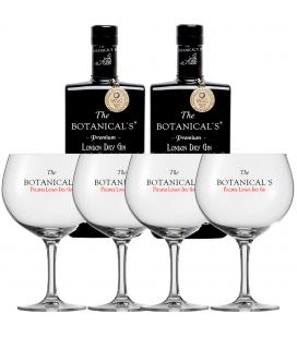 Pack 2 The Botanical's Gin + 4 Glasses