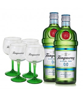 Pack 2 Tanqueray 0.0 + 4 Glasses