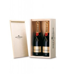 Caja de Madera 2 Botellas Moet & Chandon Brut Imperial