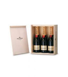 Caja de Madera 3 Botellas Moet & Chandon Brut Imperial